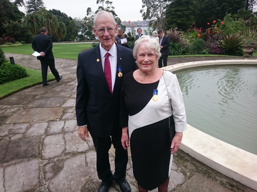 Elizabeth Wilson OAM and Gary Wilson OAM at Parliament House
