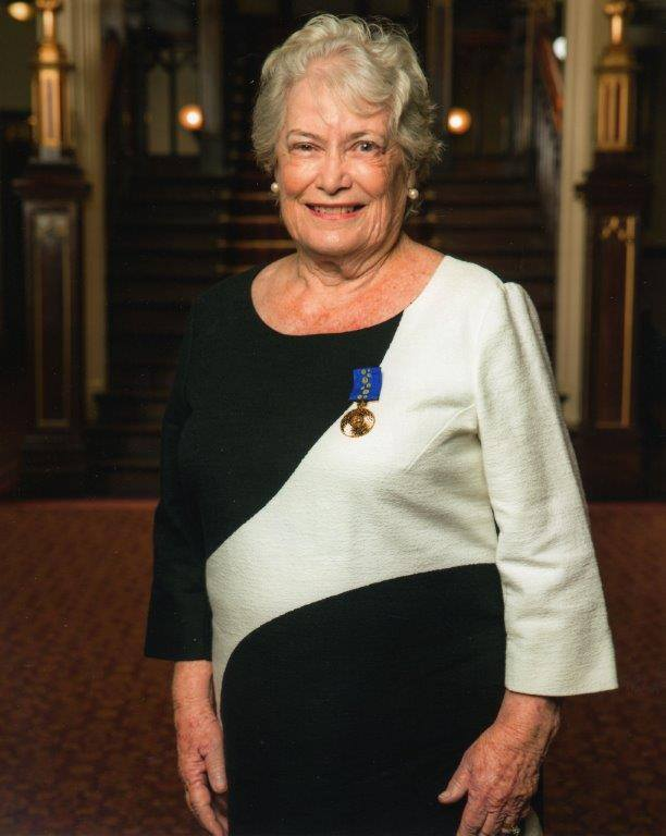 Elizabeth Wilson OAM portrait at investiture