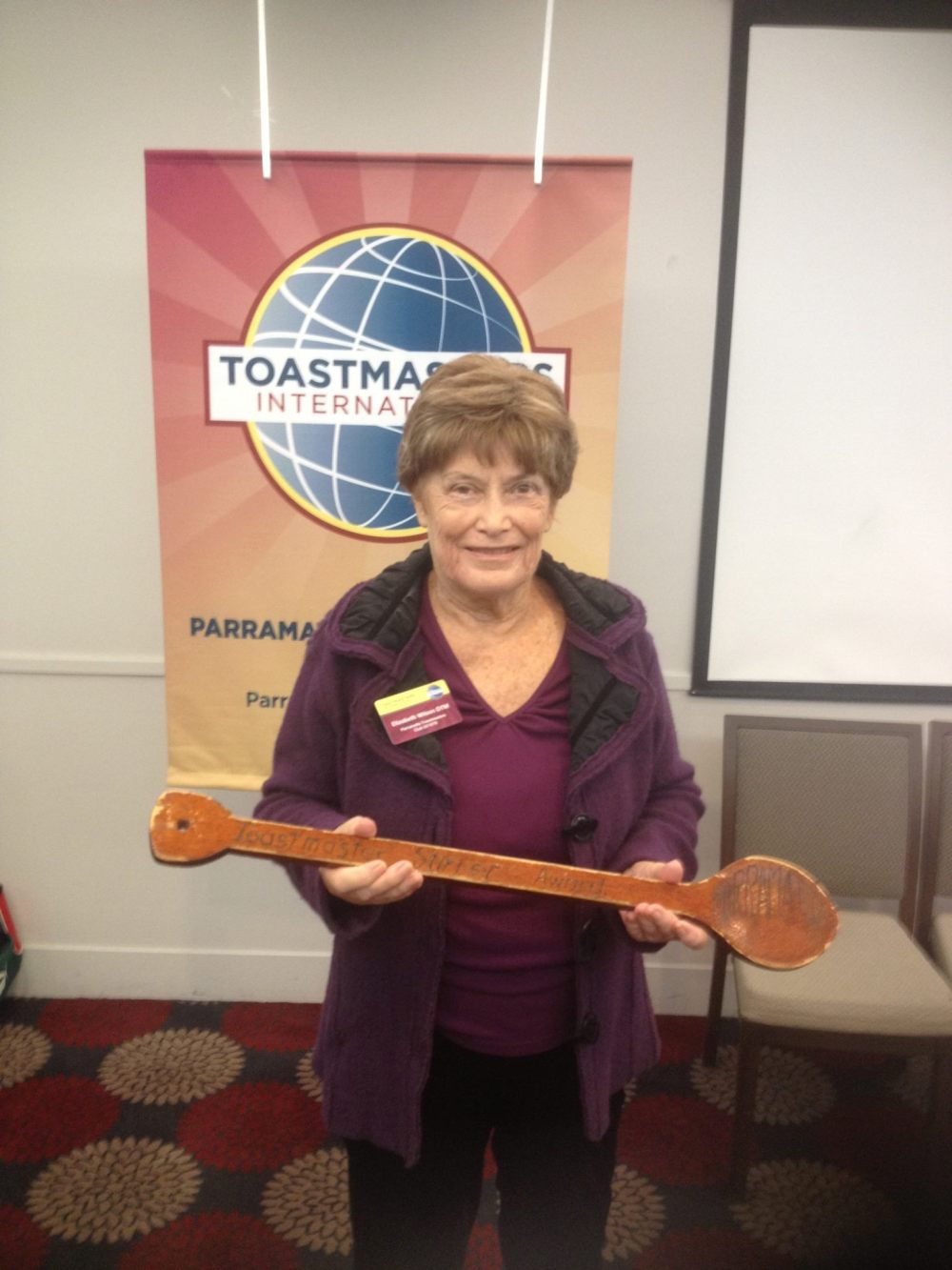 Elizabeth Wilson stirrer spoon award in 2014